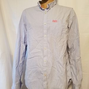 Superdry light Blue london button up Shirt large